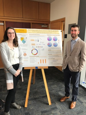 Anthony Pace and Hannah Work presenting their research on IBS Management