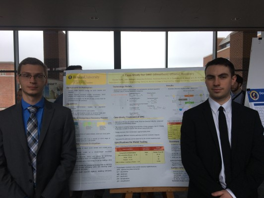 Jake Stengel and Maxim Russ presenting their research on Solvent Recovery